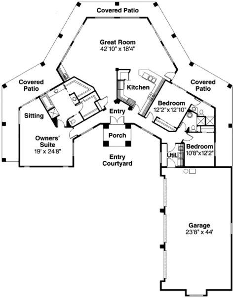 adobe house plans adobe southwestern style house plan 3 beds 3 baths 2431 sq ft plan 124 647
