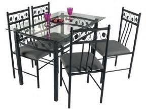 ensemble table 4 chaises shanga 207 chez conforama