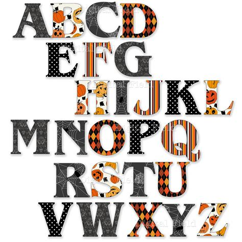 printable letters halloween halloween alphabets to print for free holidays and