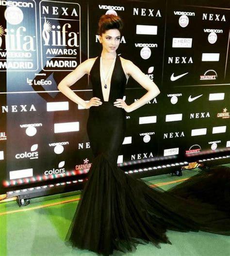 Dress Black Iffa iifa rocks 2016 green carpet in black deepika