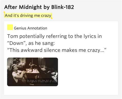 drive me crazy lyrics and it s driving me crazy after midnight lyrics meaning