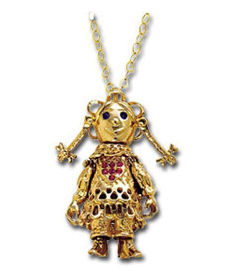 9ct ragdoll 9ct gold movable large ragdoll pendant gold jewellery