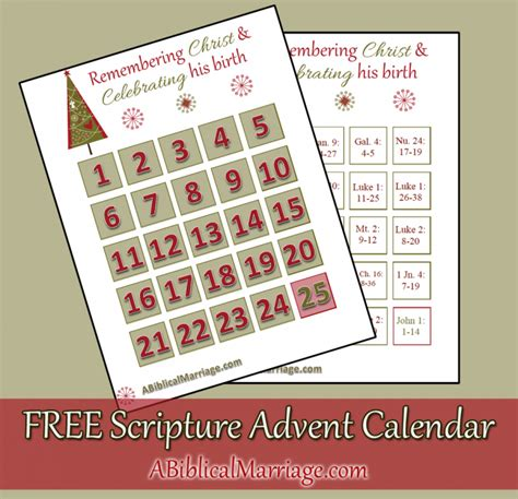 free printable advent calendar bible verses two by two christmas is around the corner