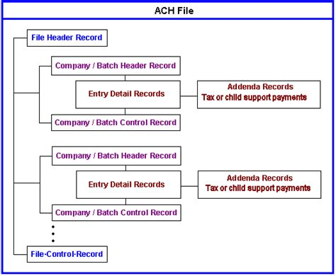 Ach Credit Format Specifications Domestic Ach File Structure And Contents
