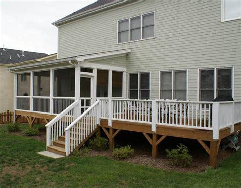 image result  raised ranch upper deck  enclosed porch backyard ideas screened  deck