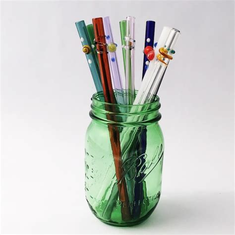 Glass Straw choose your design glass straw set of 4 strawesome