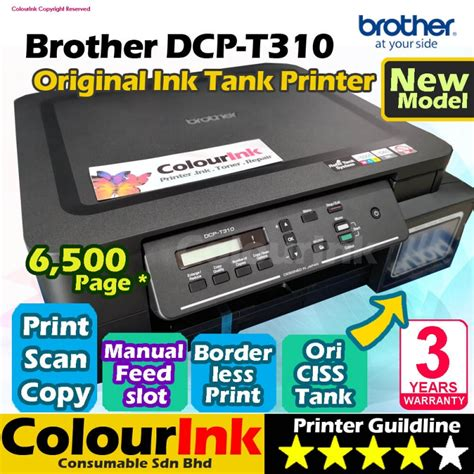 Printer Refill Tank Print Fax Copy Dcp T300 dcp t310 original ink tank replacement dcp t300 print scan copy 3 in 1 inkjet