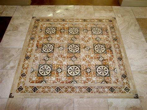 decor tiles and floors using decorative tiles on the kitchen floor will make the