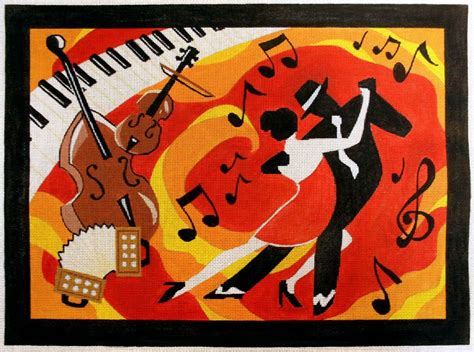 tango house music rittenhouse needlepoint custom painting