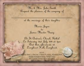Free Sle Wedding Invitations Templates top ten of free vintage style wedding invitation templates