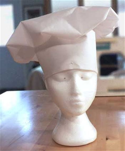 How To Make A Chef Hat Out Of Construction Paper - how to make and fit many styles of chef s hat