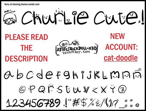 dafont cute font churlie cute by xelectricxdoll x3o on deviantart