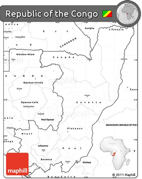 blank map of republic free blank simple map of republic of the congo