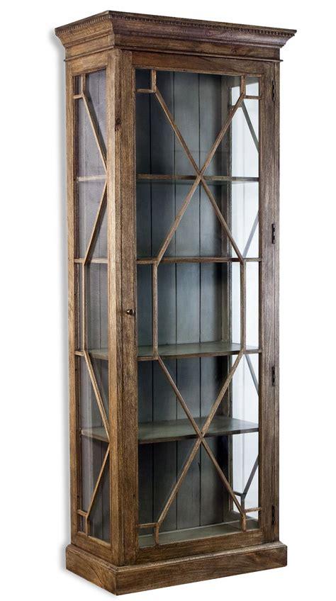 modern curio cabinet cielo gray modern rustic display curio cabinet
