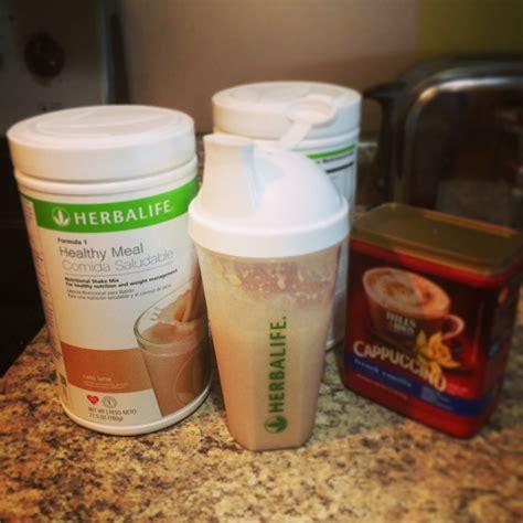 shaker shaking herbalife shake recipes cafe latte
