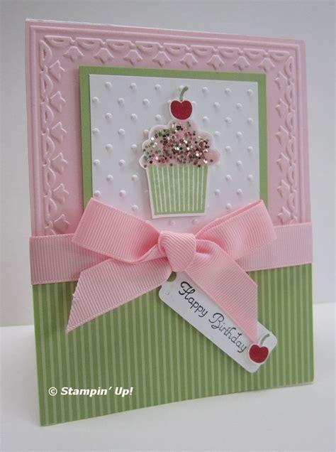 Birthday Card Cupcake Love Cup Cake Cards Scrapbooking Pinterest