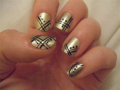 gold nail design black and gold nail designs pccala