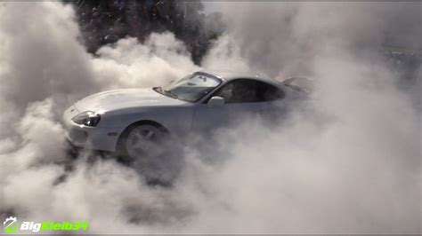 toyota supra burnout  hell youtube