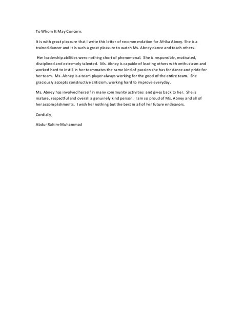 Letter Of Recommendation Verbiage recommendation letter
