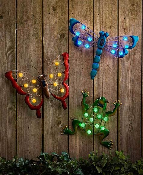 Garden Wall Hanging Solar Powered Garden Wall Light Up Hang Hanging Yard