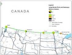 this is a map of all ibet integrated border enforcement