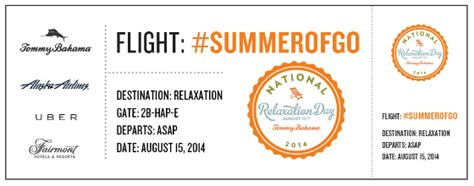 Tommy Bahama Sweepstakes - 3 ways to celebrate national relaxation day