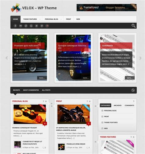 Top 10 Wordpress Templates For Blogs With Responsive Design Theme Template