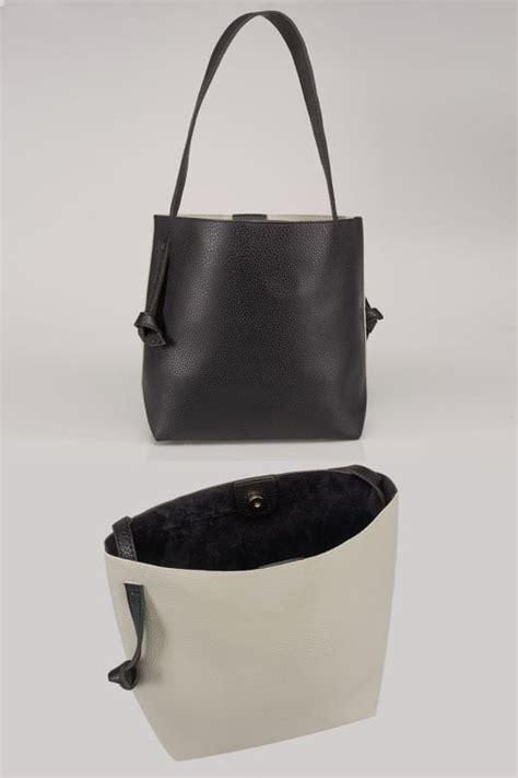 Jumpsuit 16558 Blue black grey shopper bag with knot handles