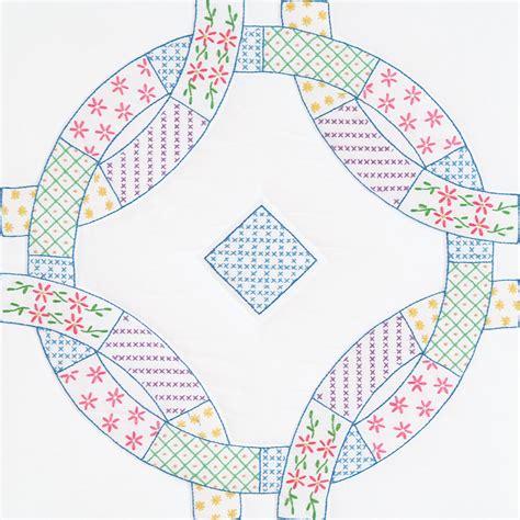 Patchwork Wedding Ring Design by Interlocking Patchwork Wedding Rings 18 Quot Quilt Blocks
