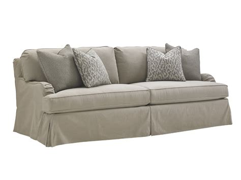oyster bay stowe slipcover sofa gray lexington home brands