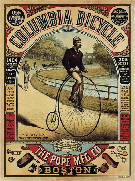 Cyling Vintage Humour Poster Free Stock Photo Public Domain Pictures The Pope Mfg Co Columbia Bicycle Vintage Bicycle