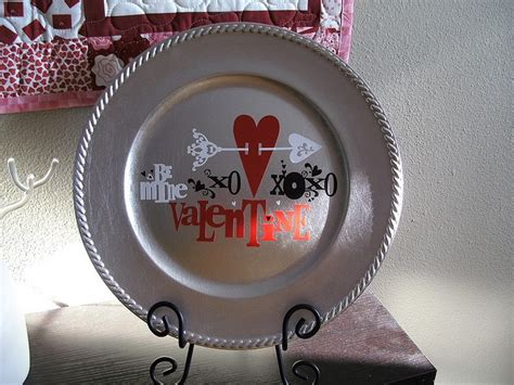 valentines day plates 37 best charger plates vinyl images on