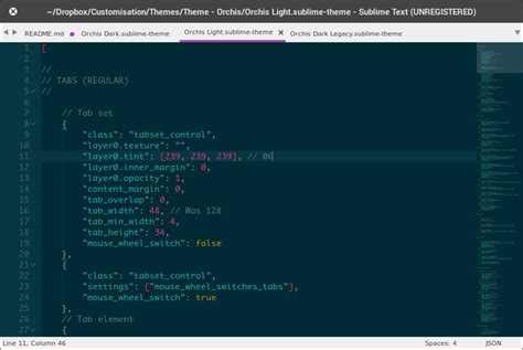 theme sublime text 3 package control theme orchis packages package control