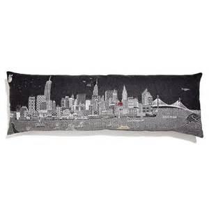 nyc skyline pillows new york city empire state building