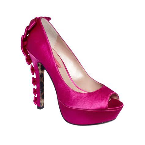 betsey johnson valntyne platform pumps in pink pink satin