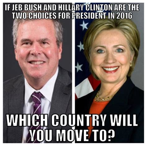 Bush Vs Clinton by Both Clinton Or Bush Are Toast Dynasty Rejected By Usa