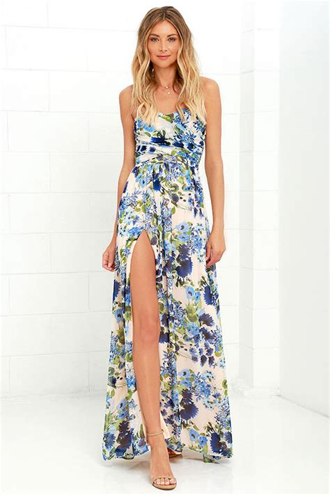 17684 blue floral overall dress lovely floral print dress blue floral print dress maxi