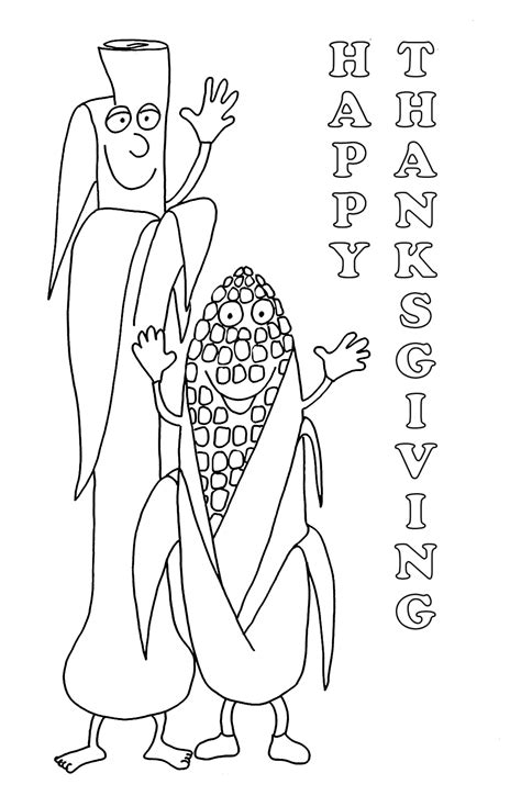 corn coloring pages for thanksgiving thanksgiving coloring pages
