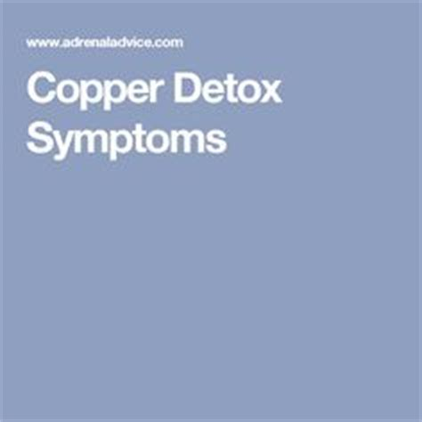 Copper Detox Insomnia by Copper Toxicity Copper And The On