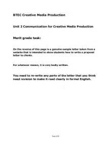 Birth Certificate Correction Sample Letter btec creative media productionunit 2 communication for creative media