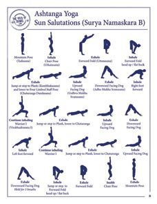 printable yoga journal sun salutation b surya namaskara b the yoga of travel