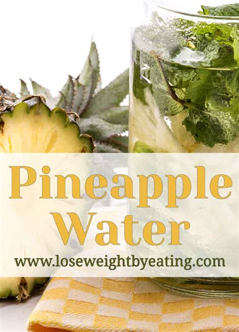 Pineapple Detox Water For Weight Loss by Pineapple Water With Cucumber And Mint Recipe