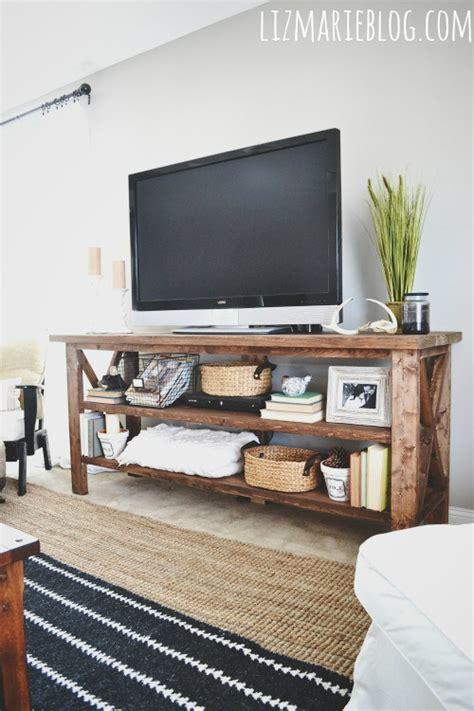 hometalk diy rustic tv console
