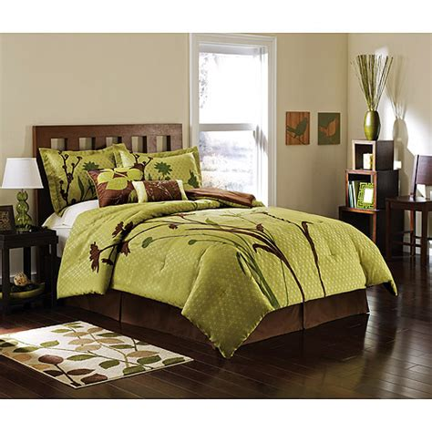 Hometrends Marmon Bedroom Comforter Set Walmart Com Walmart Bed Sets