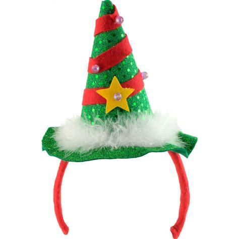 light up christmas tree headband 25292grnm craftoutlet com