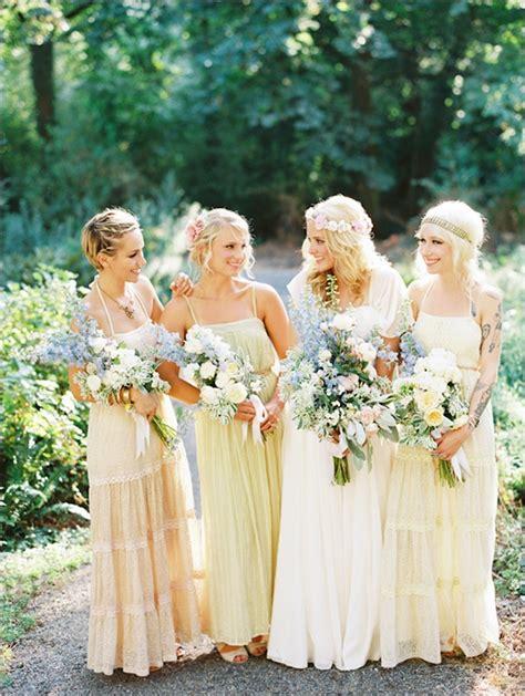 perfect mismatched bridesmaids chic vintage brides