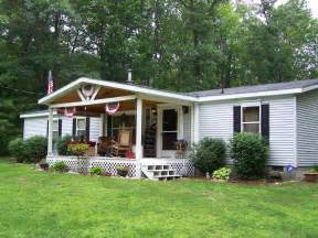 Houses With Front Porches by Mobile Home Front Porch Designs
