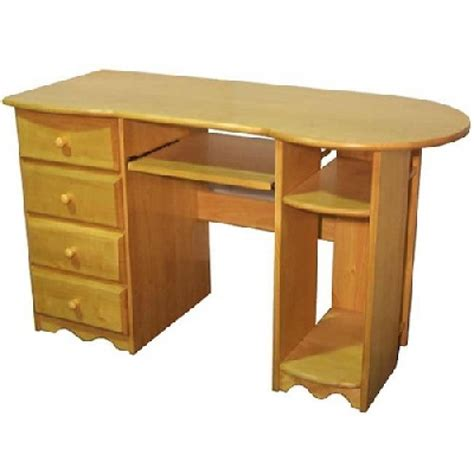Quality Computer Desks Cambrian Pine Computer Desk Rounded Top