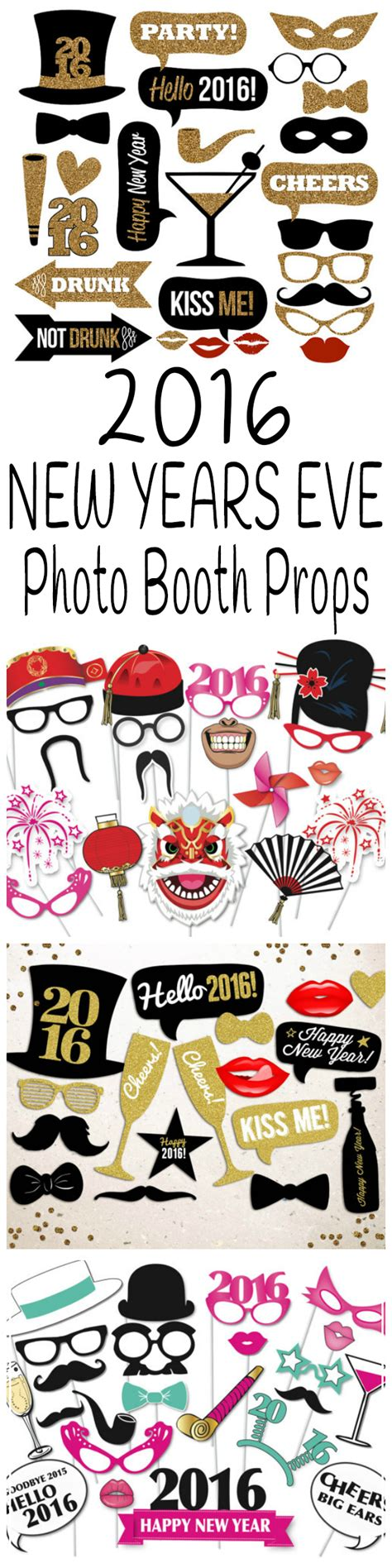 new year photo booth props 2016 new years photo booth props glitter n spice