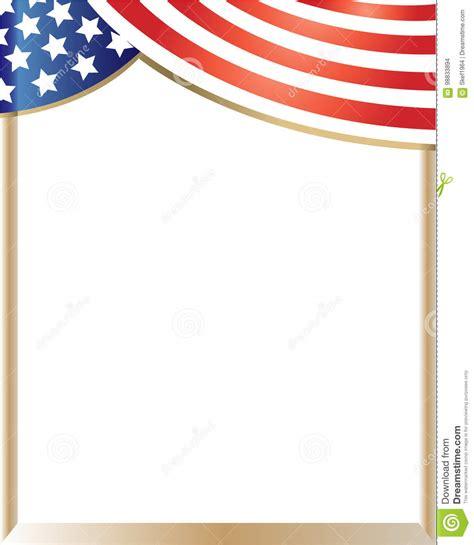 Rideau Drapeau Americain by Rideau En Cadre De Drapeau Am 233 Ricain Illustration De